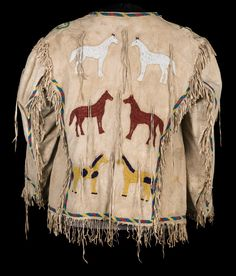 Pictorial Lakota Beaded Coat - Brian Lebel's Old West Events Native American Men, American Indians, American Art, Beaded Jacket, Native Indian, Old West, First Nations, Shades Of Green, Aqua Blue