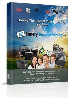 Battery Reconditioning - Battery Reconditioning - Learn how to easily recondition old batteries back to 100% of their working condition. Our battery reconditioning methods works for nearly all types of batteries (car, phone, laptop, solar/wind, forklift, golf cart, marine batteries - PLUS a lot more)! - Save Money And NEVER Buy A New Battery Again Save Money And NEVER Buy A New Battery Again