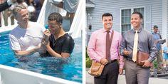 Un hombre se bautiza como testigo de Jehová y sale a predicar