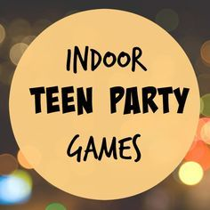 These indoor teen party games keep teens occupied without TV or video games. Gre… These indoor teen party games. 13th Birthday Parties, Birthday Party For Teens, Sleepover Party, Slumber Parties, Teen Sleepover Games, Teen Birthday Games, Sleepover Ideas For Teens, Teen Girl Games, Birthday Party Ideas For Teens 13th