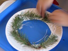Hands on kids craft for garden centers, schools, and more using fresh greens!