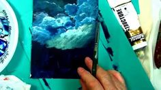How to Paint Clouds tutorial: with acrylic master  Ginger Cook