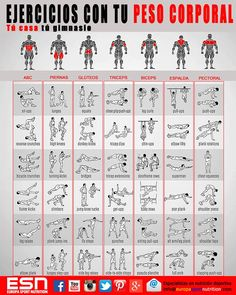 Body Weight Exercises Fitness Exercise Health Healthy Living Home Training… - Yoga & Fitness - Fitness and Exercises, Outdoor Sport and Winter Sport Physical Fitness, Yoga Fitness, Fitness Tips, Fitness Motivation, Health Fitness, Free Fitness, Fitness Foods, Exercise Motivation, Muscle Fitness
