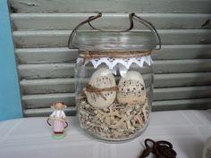 ♥ღ Ostereier im Weckglas Shabby  ♥ღ von kreativ-schlößchen auf DaWanda.com