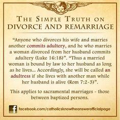 Divorce and Remarriage Catholic Answers, Catholic Memes, Catholic Prayers, Catholic Traditions, Catholic Gifts, Catholic Lent, Bible Prayers, Catholic Theology, Catholic Religion