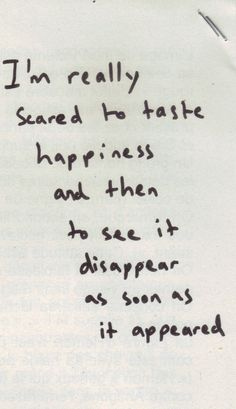 Afraid ..