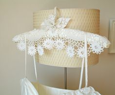 Wedding Dress Hanger  With Vintage Handcrocheted by WHITEStardust, $28.00