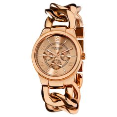 Rose Gold Chain Watch