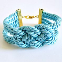 Knotted #rope #bracelet. Also like the #connector