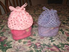 Doll bassinets/purses with bedding - made for my grandnieces for Christmas 2011. Purses closed for travel.