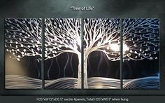 """Original Metal Wall Art Modern Painting Sculpture Indoor Outdoor Decor """"Tree of Life"""" by Ning from zenartstudio on Etsy. Saved to Neat Home Decor. Metal Tree Wall Art, Metal Artwork, Wall Sculptures, Tree Sculpture, Unique Home Decor, Tree Art, Metal Walls, Tree Of Life, Decoration"""