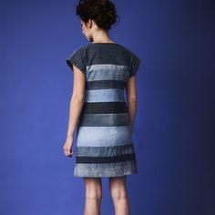 Simple but beautiful and made of old jeans Denim tunika by Mea <3 #Mea #finnishdesign #weecos #sustainable
