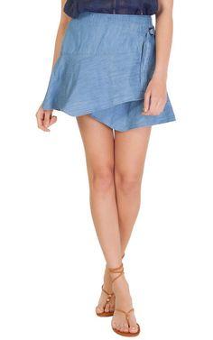 Saia jeans envelope Market 33 - azul