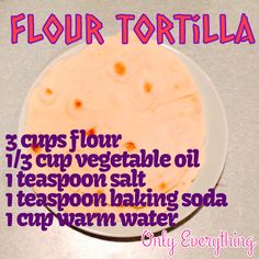 Homemade flour tortilla wraps heat in skillet for 4-6 min