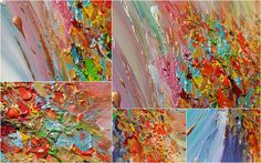 #CloseupDetails #Original #Contemporary #Colorful #Abstract #Painting #Rainbow #Floral #Abstract #Art #Surreal #Abstraction #Modern #Painting #Multicolored #PaletteKnife #RichTexture #Zen #ReadytoHang #Canvas #Art ''Whimsical Energy'', Painting by #JuliaApostolova   #Artfinder