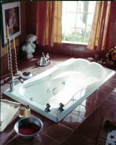 "Neptune Melia Soaker Tub - 65-1/2"" x 33-7/8"" x 19-1/2""- ME66S #BathroomRemodel #BathtubIdeas #DropInBathtub"