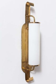 French Brass and Milk Glass Wall Sconce | From a unique collection of antique and modern wall lights and sconces at http://www.1stdibs.com/furniture/lighting/sconces-wall-lights/