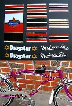 Vintage Bicycle Parts 56197: Malvern Star Bicycle Dragster Bike Set Stickers Decals Cycle Bmx -> BUY IT NOW ONLY: $69 on eBay!