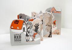Caroline Rabei - Little Red Riding Hood Illustration Kirigami, Paper Design, Book Design, Scrapbooking Journal, Dm Poster, Concertina Book, Paper Art, Paper Crafts, Leaflet Design
