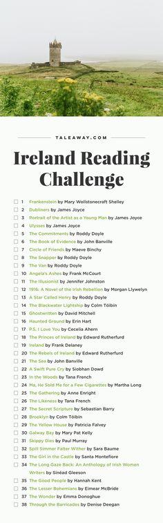 Ireland Reading Challenge, Books Set In Ireland