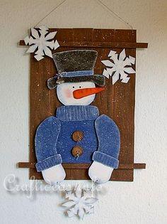 f81fe71c74b3 Christmas Wood Craft - Wooden Snowman Wall Picture Πόρτα Με Χιονάνθρωπο,  Χριστουγεννιάτικα Στολίδια Diy,