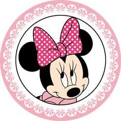 KIT FESTA PRONTA MINNIE ROSA GR�TIS PARA BAIXAR Minnie Mouse Cupcake Toppers, Mickey E Minnie Mouse, Minnie Png, Baby Mickey, Mickey Mouse Birthday, Baby Birthday, Disney Mickey, Bottle Cap Crafts, Mini Mouse