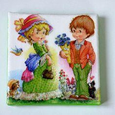 Tableau retro enfants, collages serviettes, chambre d'enfants Collages, Creations, Frame, Articles, Painting, 3d, Unique, Home Decor, Pocket Charts