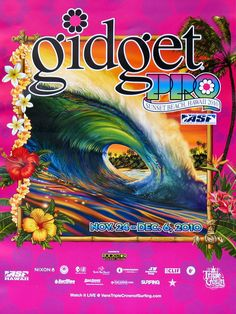 2010 Gidget Pro (surfing poster). Art by by Rick Rietveld