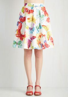 Completely and Flutter-ly Skirt | Mod Retro Vintage Skirts | ModCloth.com