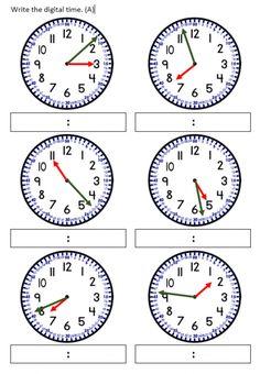 Time Worksheets Grade 3, Mental Maths Worksheets, Kindergarten Math Worksheets, Life Skills Class, Math Sheets, Math For Kids, Teaching Tools, Telling Time Worksheet, Elapsed Time