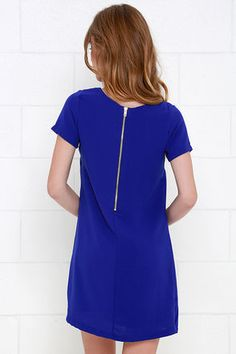 Shift and Shout Royal Blue Shift Dress at Lulus.com!