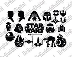 Check out our star wars selection for the very best in unique or custom, handmade pieces from our shops. Silhouette Cameo, Silhouette Portrait, Silhouette Projects, Silhouette Design, Star Wars Tattoo, 1 Tattoo, Star Wars Quotes, Star Wars Humor, Star Wars Birthday