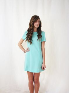 Vintage Mod Dress  Turquoise Dress  Small Dress  by VintageGriffin, $34.00