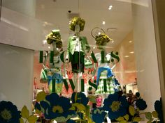 Sometimes flowers can go to your head. Kate Spade window, San Francisco.