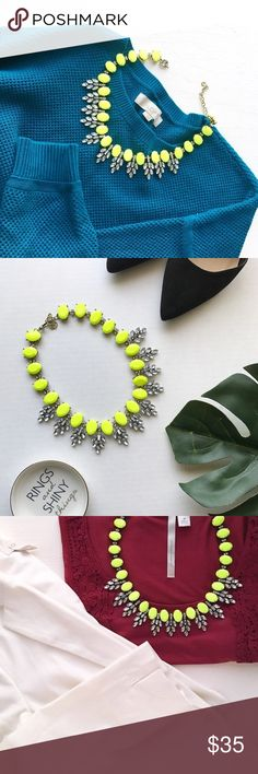 Neon Statement Necklace 1. NWT retail boutique item 2. Same day shipping! 3. Bundle and save :)  4. Instagram: @haveit.wearit.loveit hwl boutique Jewelry Necklaces