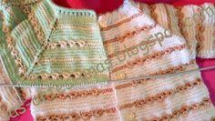 ARTES-ANAS: PUNTO CARACOL,CHAQUETA BEBÉ Crochet Baby, Boho Shorts, Blanket, Knitting, Clothes, Lana, Fashion, Knit Jacket, Vestidos