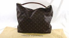 Authentic LOUIS VUITTON Sully PM Canvas and Leather Monogram Hobo Style