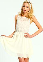 Creamy Lace Dress:$26.90