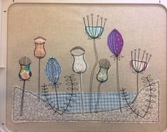 """Raw Edge Applique, ITH Machine Embroidery Pattern, """"Beach Scene"""" by Pixie Willow Patterns - In The hoop Design - Free motion embroidery"""