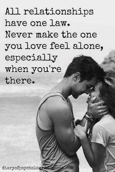 Never make me feel alone