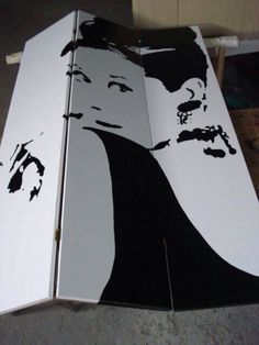 Biombo personalizado de Audrey Hepburn. Realizado y pintado a mano 100%. MoodArtStudio