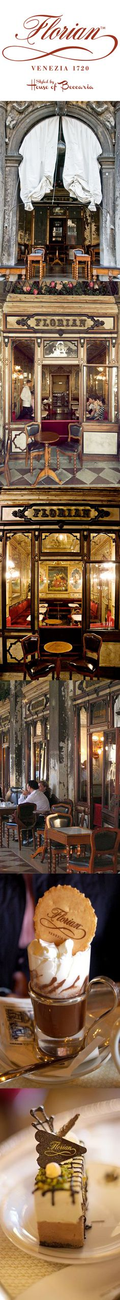 ~Caffè Florian in the Procuratie Nuove of Piazza San Marco, Venice was established in 1720, and is the oldest coffee house in the world | House of Beccaria