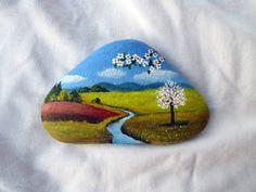 Malované kameny - Jaro, Léto, Podzim. Zima