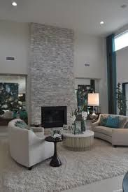 Image result for grey Stacked Stone Tile Fireplace