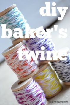 Great tutorial for making your own baker's twine....so simple & inexpensive!