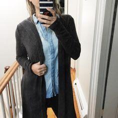 Stitch Fix Long Cardigan Winter 2017 Laila Jayde Molli Hooded Open Cardigan