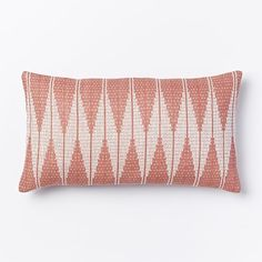 Hand-Loomed Diamond Pillow Cover - Rose Bisque | West Elm