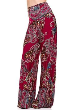 Plum Feathers Women's High Waisted Wide Leg Palazzo Pants Plus & Regular Sizes Women's Leggings, Leggings Are Not Pants, Hippie Style, My Style, Boho Pants, Gypsy Pants, Tall Pants, Wide Leg Palazzo Pants, Boho Fashion