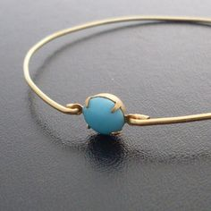 Turquoise+Bracelet+Virginia++Gold+and+Turquoise+by+FrostedWillow,+$12.95