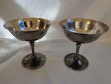 godinger silver goblets   Vintage Drinking/Dessert Dish Silverplate Delberti Italy Goblet/Cups